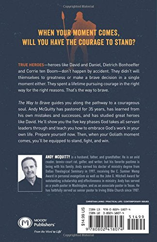 The Way To Brave: Shaping A David Faith For Today's Goliath World - Leadership Books
