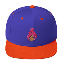 Flame Icon Snapback Hat - Dark Colors