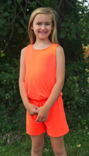 KIDS Orange Romper