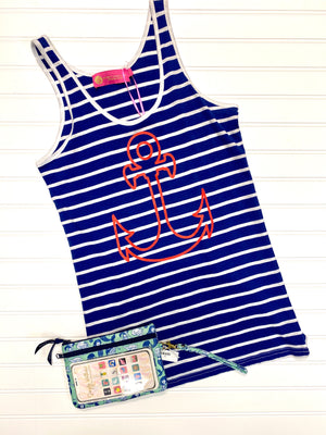 Anchor Stripe Tank Top