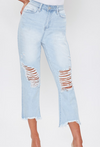 Dream High Rise Distressed Ankle Jeans