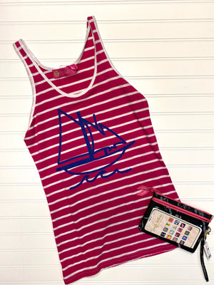 Sailboat Stripe Tank Top
