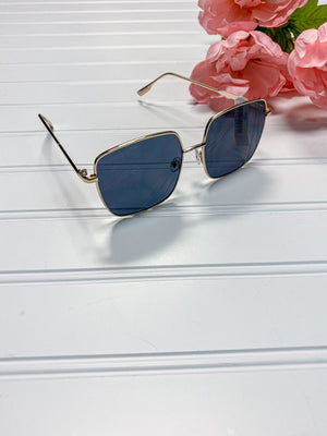 Large Square Frame Sunglasses
