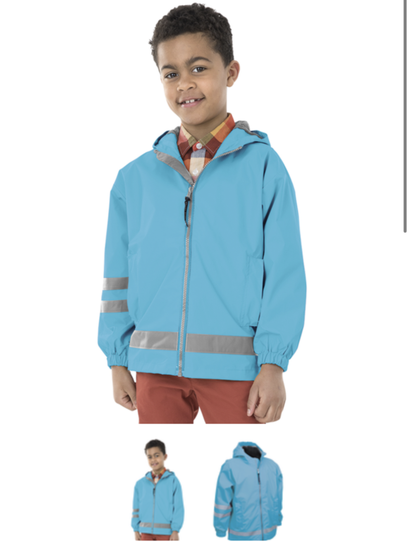 Charles River KIDS Full ZIP Rain Jacket