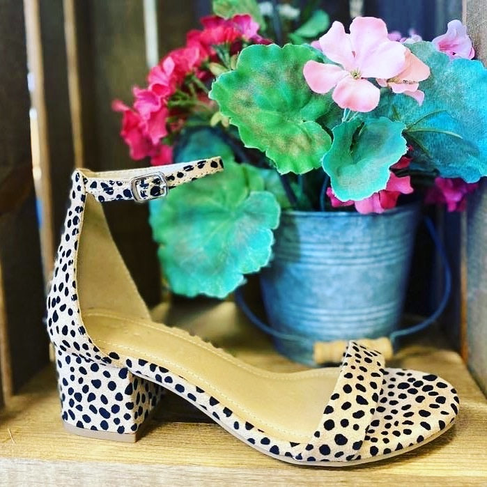 Weekend Leopard Block Heel