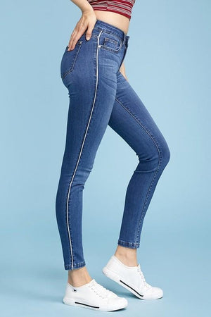 Judy Blue Skinny Jeans with Piping Details