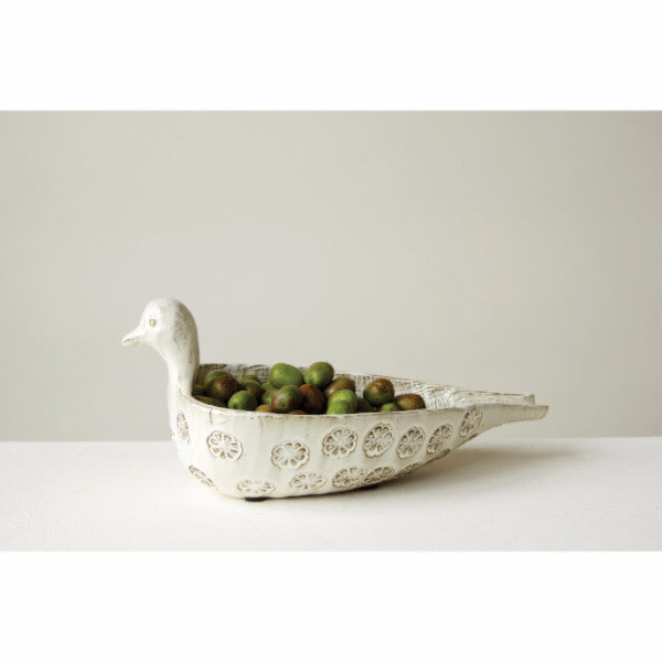 Terracotta Decorative Bird Bowl