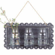 Hanging Tin Wall Decor with Jars