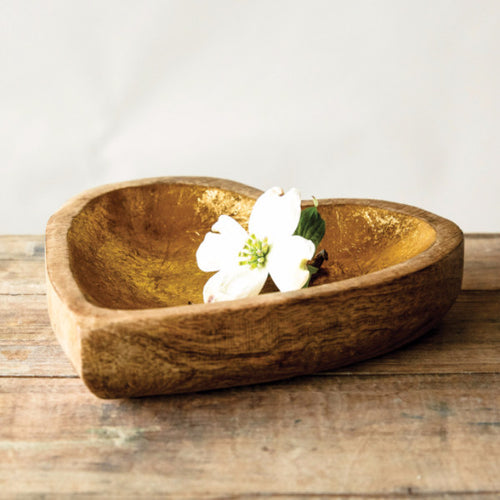 Mango Wood Heartshaped Tray