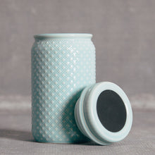 Hobnail Jar with Chalkboard Lid