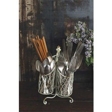 Tin and Wire Utensil Holder