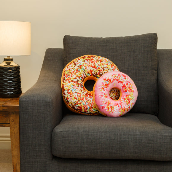 Doughnut Cushion Sprinkles Large/Small - Lumiletters