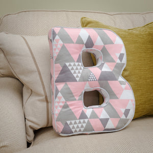 Pink Alphabet Cushion - Lumiletters