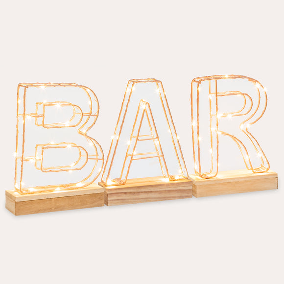 Word 'BAR' - Lumiletters