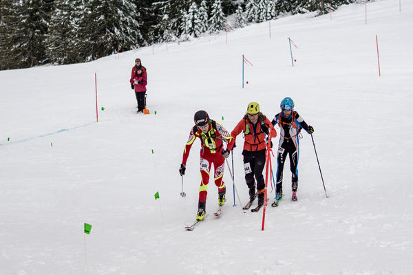 Skimo racing sprint race Fernie
