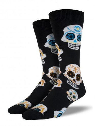 Men's King Size Big Muertos Skull Socks