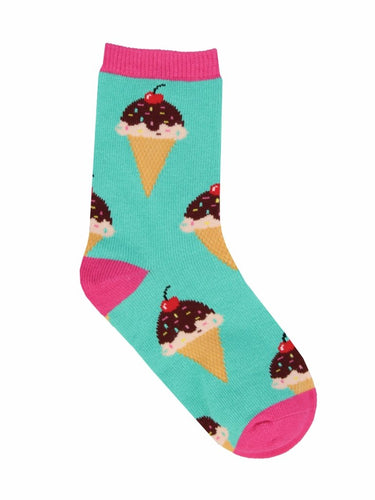 Kid's What's The Scoop? Graphic Socks