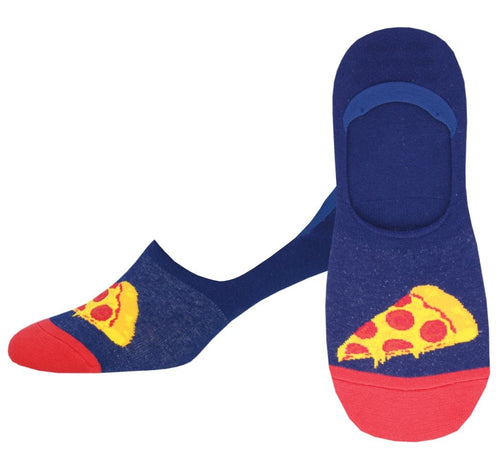 Men's In Pizza We Crust No Show Liner Socks