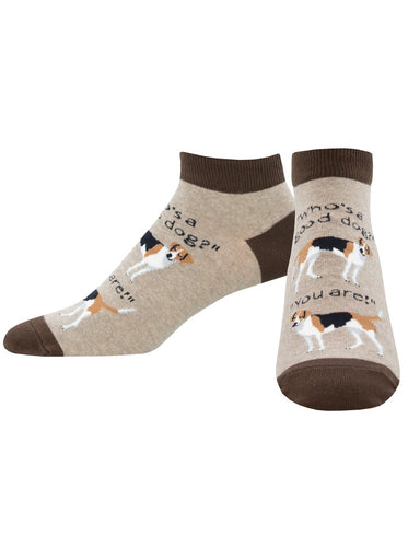 Men's Good Dog Graphic Ped Socks