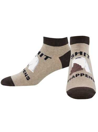 Men's Sh*t Happens Graphic Ped Socks