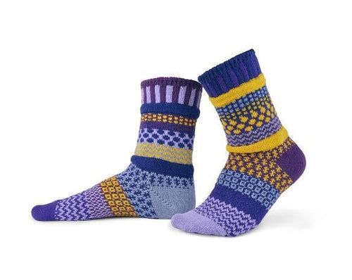 Solmate Purple Rain Crew Socks