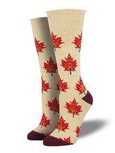 Outlands Recycled Cotton Maple Leaf, Eh? Socks