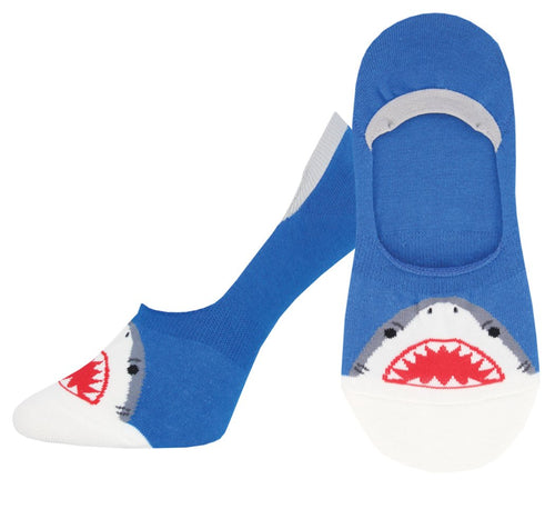 Ladies Shark Bite No Show Liner Socks