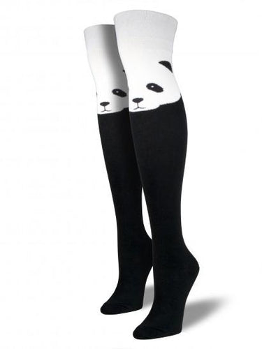 Ladies Panda Over The Knee Socks