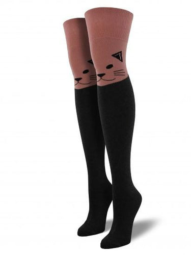 Ladies Cat Over The Knee Socks