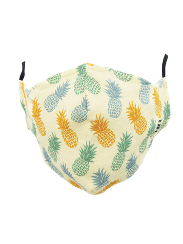 One Size Pineapple Print Mask