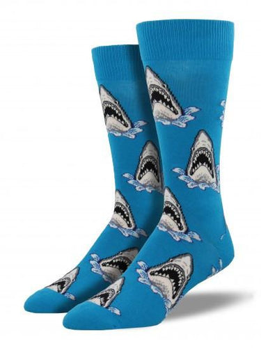 Men's King Size Shark Attack Socks