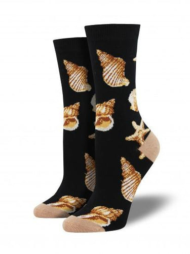 Ladies Bamboo Sea Shells Socks