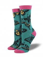 Ladies Bamboo Butterflies Socks