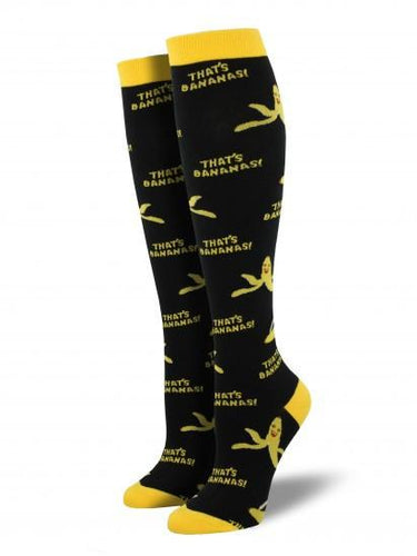 Ladies That's Bananas Knee High Socks