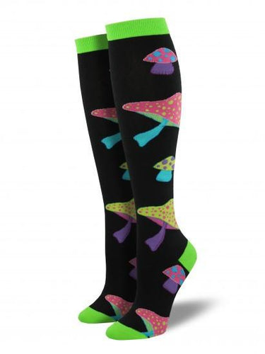 Ladies Psychedelic Shrooms Knee High Socks