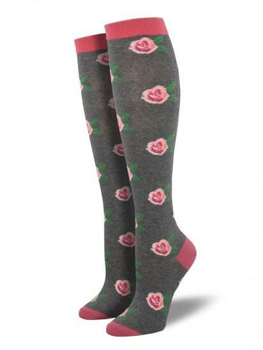 Ladies Smell The Roses Knee High Socks