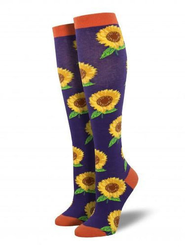 Ladies Sunflower Knee High Socks