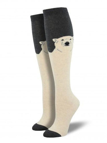 Ladies Polar Bear Knee High Socks