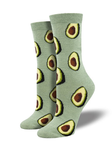 Ladies Bamboo Let's Guac About It Socks