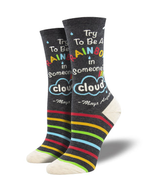 Ladies Maya Angelou Be A Rainbow Socks