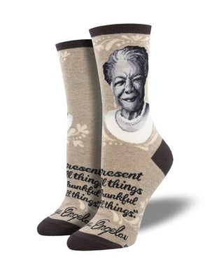 Ladies Maya Angelou Portrait Socks