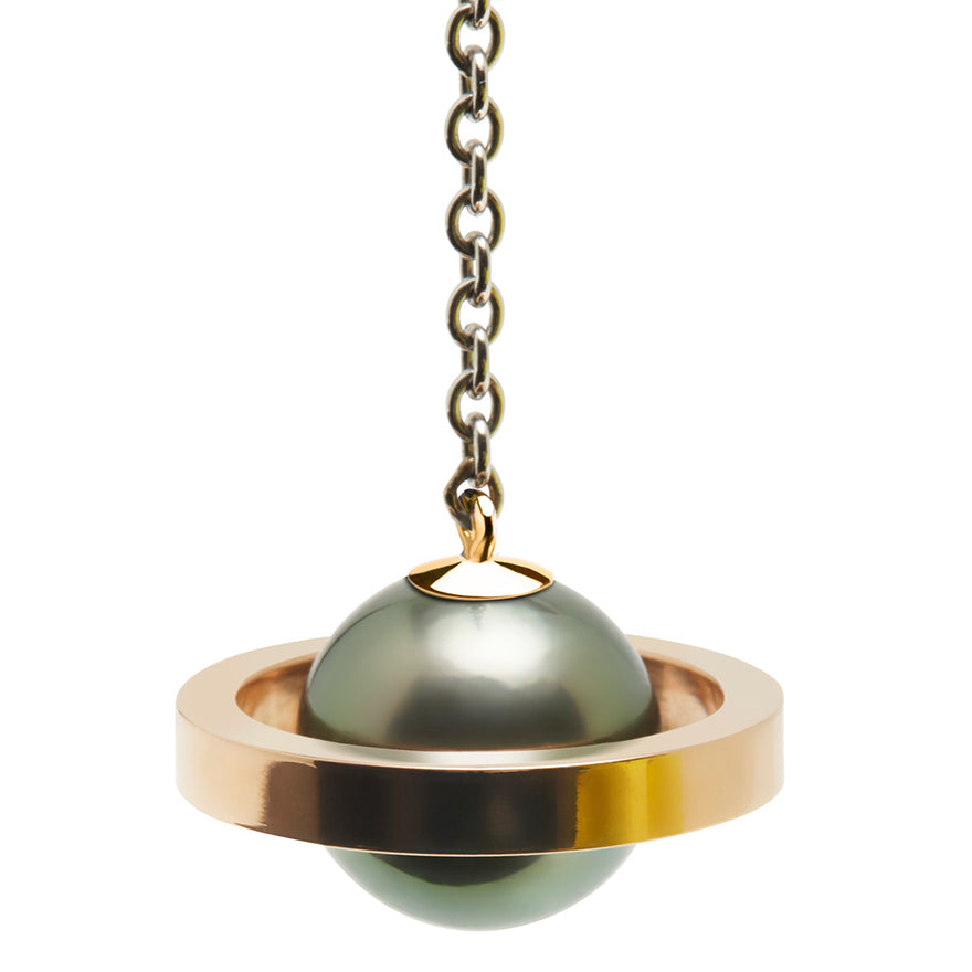 Rose Gold-Tahitian Pearl