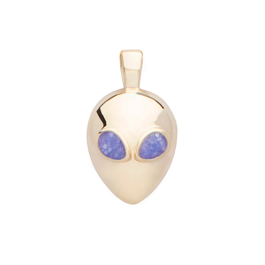 Yellow Gold-Purple Enamel