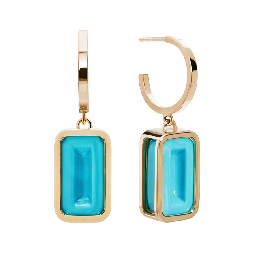 Yellow Gold-Turquoise