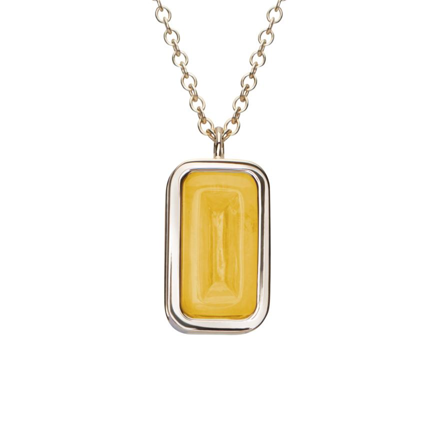 White Gold-Yellow Agate