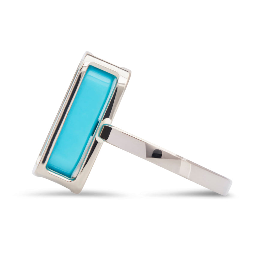 White Gold-Turquoise