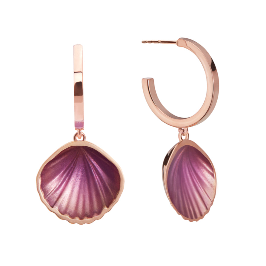 Rose Gold-Lilac Enamel