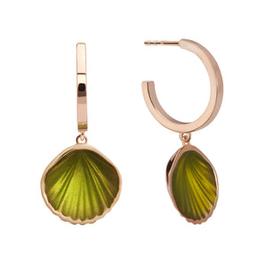 Yellow Gold-Green Enamel