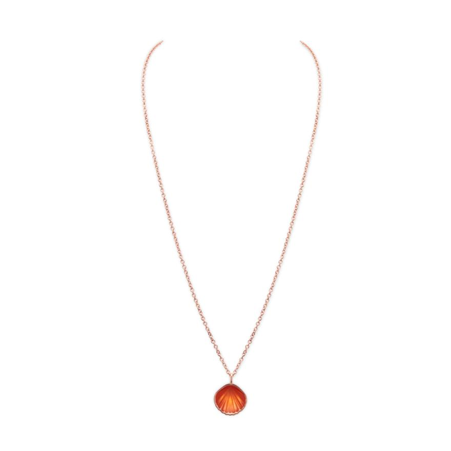 Rose Gold-Orange Enamel