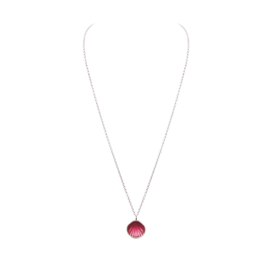White Gold-Pink Enamel